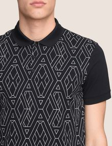 ARMANI EXCHANGE GEOMETRIC LOGO POLO SHORT SLEEVES POLO Man b