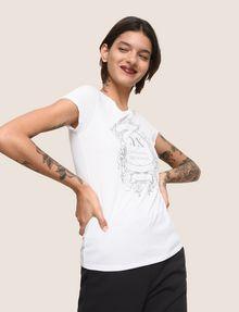 ARMANI EXCHANGE METALLIC CREST LOGO TEE Logo T-shirt Woman a