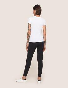 ARMANI EXCHANGE METALLIC CREST LOGO TEE Logo T-shirt Woman e