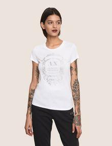 ARMANI EXCHANGE METALLIC CREST LOGO TEE Logo T-shirt Woman f