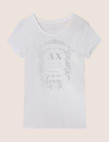 ARMANI EXCHANGE METALLIC CREST LOGO TEE Logo T-shirt Woman r