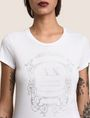 ARMANI EXCHANGE METALLIC CREST LOGO TEE Logo T-shirt Woman b