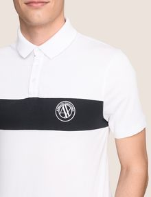 ARMANI EXCHANGE ORGANIC COTTON STRIPE POLO SHORT SLEEVES POLO Man b