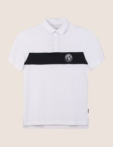 ARMANI EXCHANGE ORGANIC COTTON STRIPE POLO SHORT SLEEVES POLO Man r