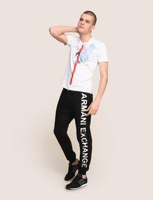 ARMANI EXCHANGE METALLIC LOGO JOGGER Fleece Trouser Man d