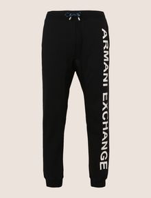 ARMANI EXCHANGE METALLIC LOGO JOGGER Fleece Pant Man r