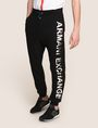 ARMANI EXCHANGE METALLIC LOGO JOGGER Fleece Pant Man f