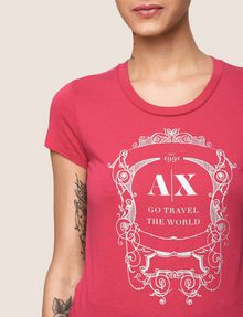 ARMANI EXCHANGE METALLIC CREST LOGO TEE Logo T-shirt Woman b