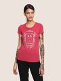 ARMANI EXCHANGE METALLIC CREST LOGO TEE Logo T-shirt Woman f