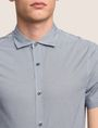 ARMANI EXCHANGE MIXED LOGO SLIM-FIT SHIRT Short-Sleeved Shirt Man b