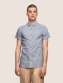 ARMANI EXCHANGE MIXED LOGO SLIM-FIT SHIRT Short sleeve shirt Man f