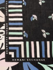 ARMANI EXCHANGE LEAF PRINT SQUARE SCARF Scarf Woman d