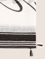ARMANI EXCHANGE ロゴプリント スカーフ スカーフ レディース d