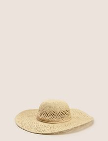 ARMANI EXCHANGE DIAMOND-WEAVE WIDE-BRIM HAT Hat Woman f