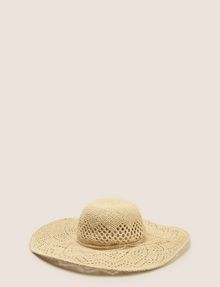 ARMANI EXCHANGE DIAMOND-WEAVE WIDE-BRIM HAT Hat Woman r