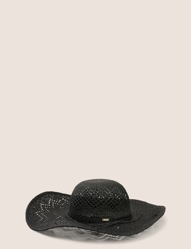 DIAMOND-WEAVE WIDE-BRIM HAT