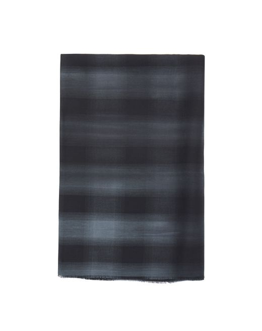 GRAY CHECKERED SCARF - Lanvin