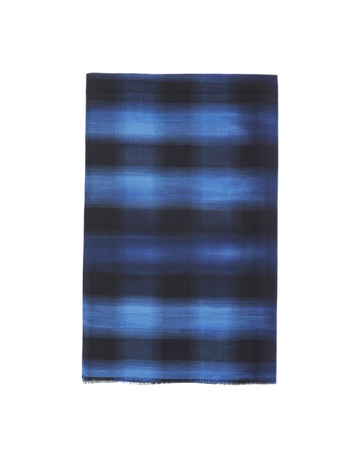BLUE CHECKERED SCARF - Lanvin