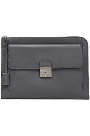 DOLCE & GABBANA Textured-leather laptop case