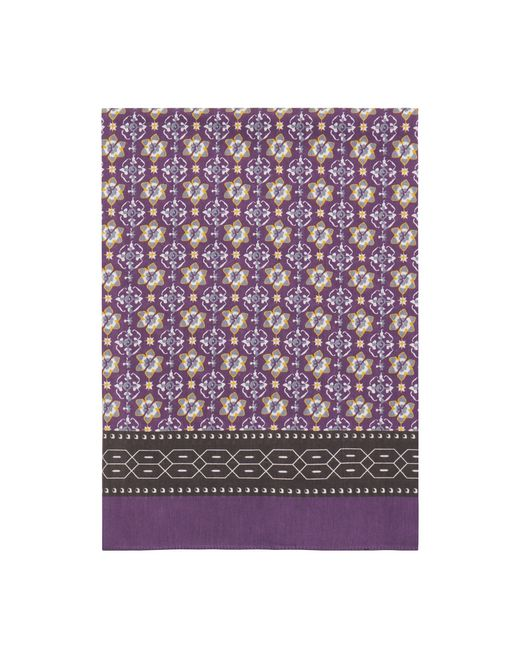 PURPLE PATTERNED SCARF - Lanvin