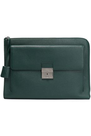 DOLCE & GABBANA Textured-leather laptop case