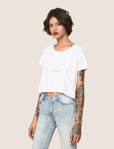 CROPPED EMBOSSED SUMMERTIME TEE