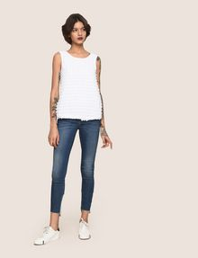 ARMANI EXCHANGE PAILLETTE DOT TOP S/S Knit Top Woman d