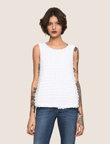 ARMANI EXCHANGE PAILLETTE DOT TOP S/S Knit Top Woman f