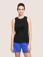 ARMANI EXCHANGE TIE-FRONT POPLIN TOP S/L Knit Top Woman f