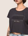 ARMANI EXCHANGE CROPPED EMBOSSED SUMMERTIME TEE Non-Logo Tee Woman b