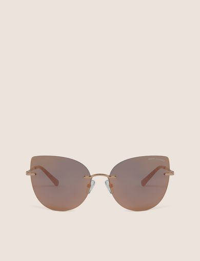 ROSE GOLD MIRROR FRAMELESS CAT-EYE