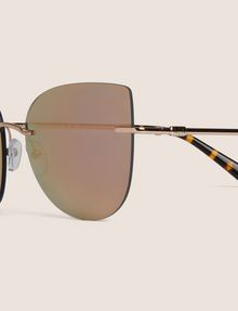 ARMANI EXCHANGE ROSE GOLD MIRROR FRAMELESS CAT-EYE Sunglass [*** pickupInStoreShipping_info ***] d