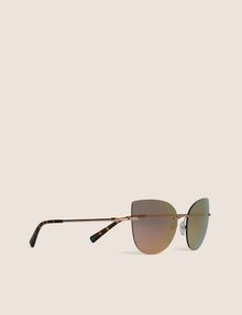 ARMANI EXCHANGE ROSE GOLD MIRROR FRAMELESS CAT-EYE Sunglass [*** pickupInStoreShipping_info ***] f
