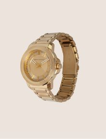 ARMANI EXCHANGE FACETED GOLD-TONED BRACELET WATCH Watch Man d