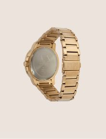 ARMANI EXCHANGE FACETED GOLD-TONED BRACELET WATCH Watch Man e