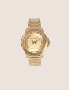 ARMANI EXCHANGE FACETED GOLD-TONED BRACELET WATCH Watch Man f