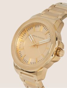 ARMANI EXCHANGE FACETED GOLD-TONED BRACELET WATCH Watch Man r