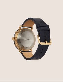 ARMANI EXCHANGE NAVY HYBRID SMARTWATCH WITH LEATHER BAND Hybrid Watch E e