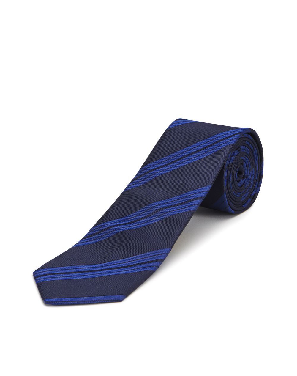 BLUE STRIPED NECKTIE - Lanvin
