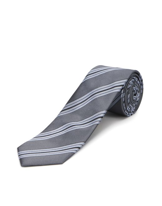 GRAY STRIPED NECKTIE - Lanvin