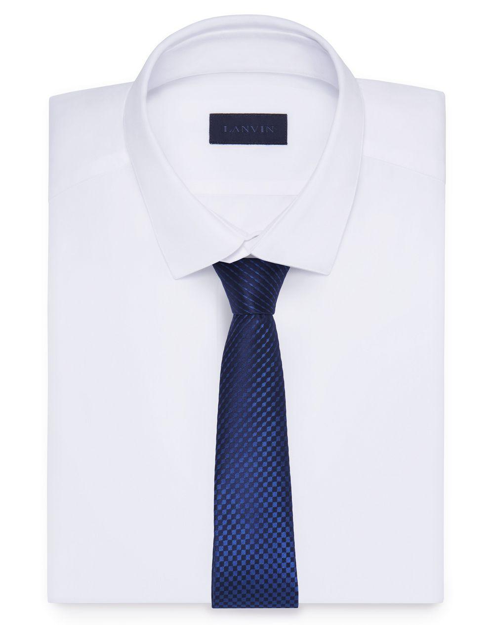 BLUE CHECKERED NECKTIE - Lanvin