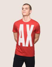 ARMANI EXCHANGE OVERSIZE A|X STRIPE TEE Logo T-shirt Man f
