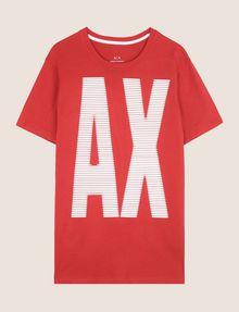 ARMANI EXCHANGE OVERSIZE A|X STRIPE TEE Logo T-shirt Man r