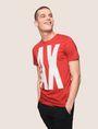 ARMANI EXCHANGE OVERSIZE A|X STRIPE TEE Logo T-shirt Man a