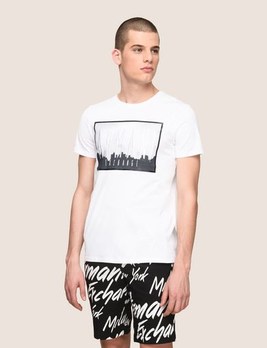 BLURRED SKYLINE LOGO TEE