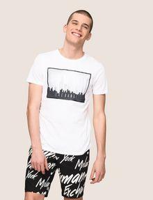 ARMANI EXCHANGE BLURRED SKYLINE LOGO TEE Logo T-shirt Man a