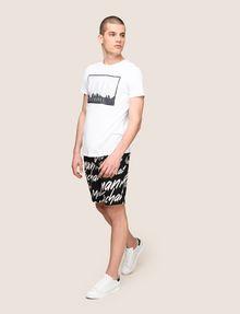 ARMANI EXCHANGE BLURRED SKYLINE LOGO TEE Logo T-shirt Man d