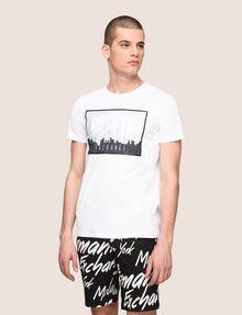 ARMANI EXCHANGE BLURRED SKYLINE LOGO TEE Logo T-shirt Man f