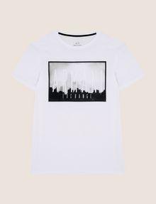 ARMANI EXCHANGE BLURRED SKYLINE LOGO TEE Logo T-shirt Man r