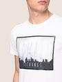 ARMANI EXCHANGE BLURRED SKYLINE LOGO TEE Logo T-shirt Man b